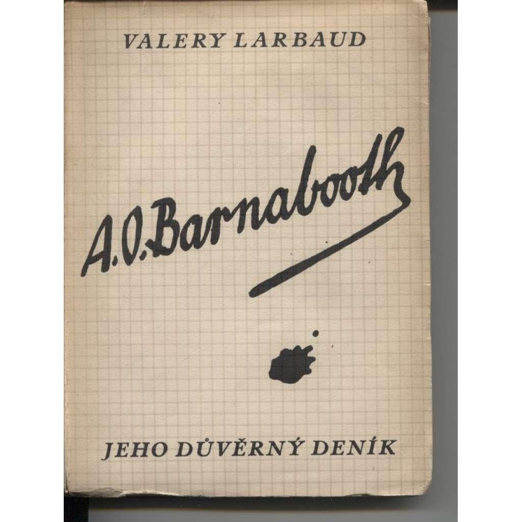 A. O. Barnbooth. Jeho důvěrný deník (obálka Josef Čapek)