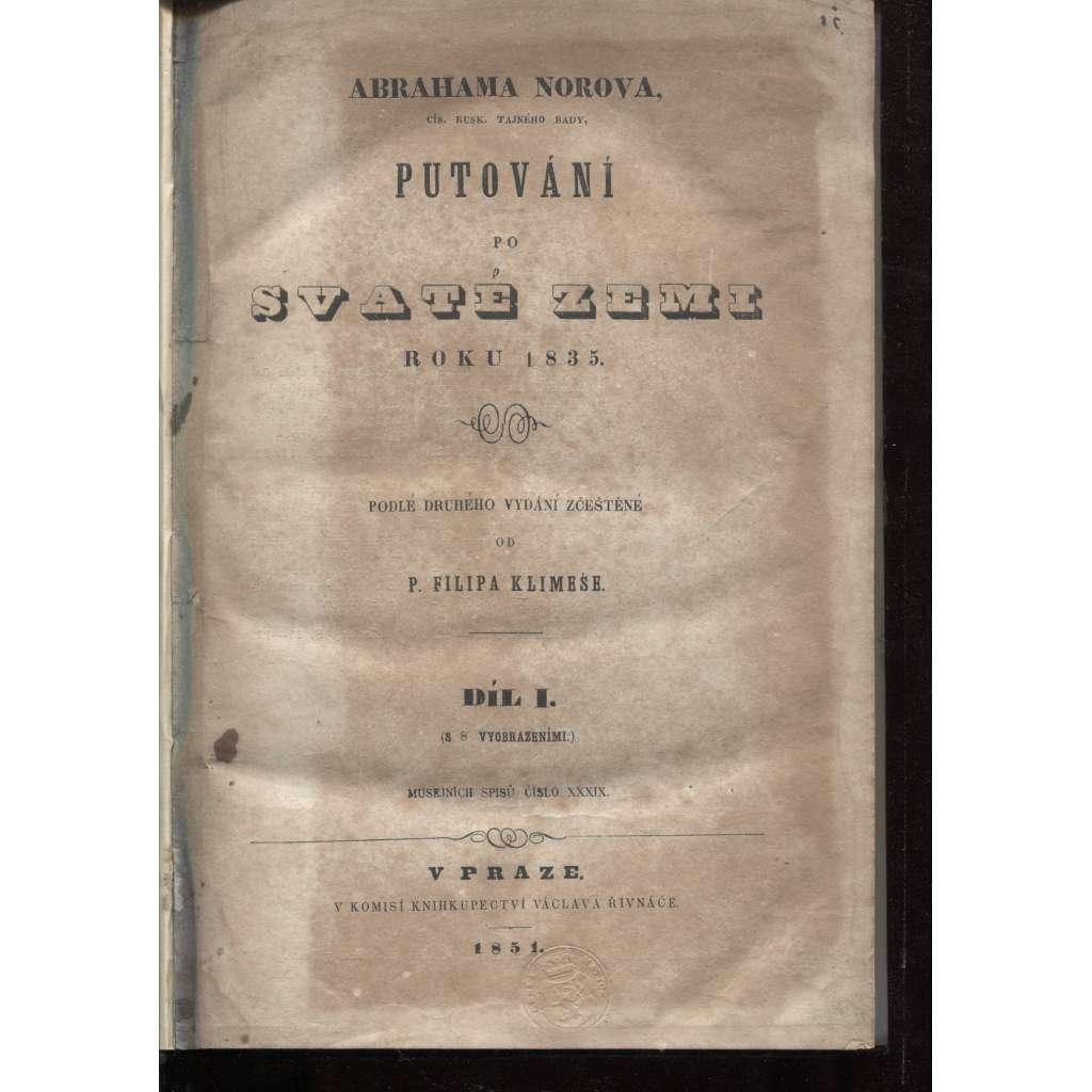 Putování po Svaté zemi, díl I. (1835)