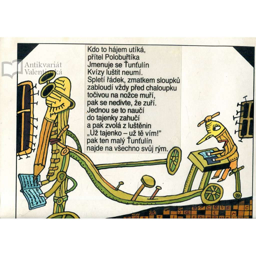 Ťunťulín, přítel Polobuřtíka (tuš a akvarel)