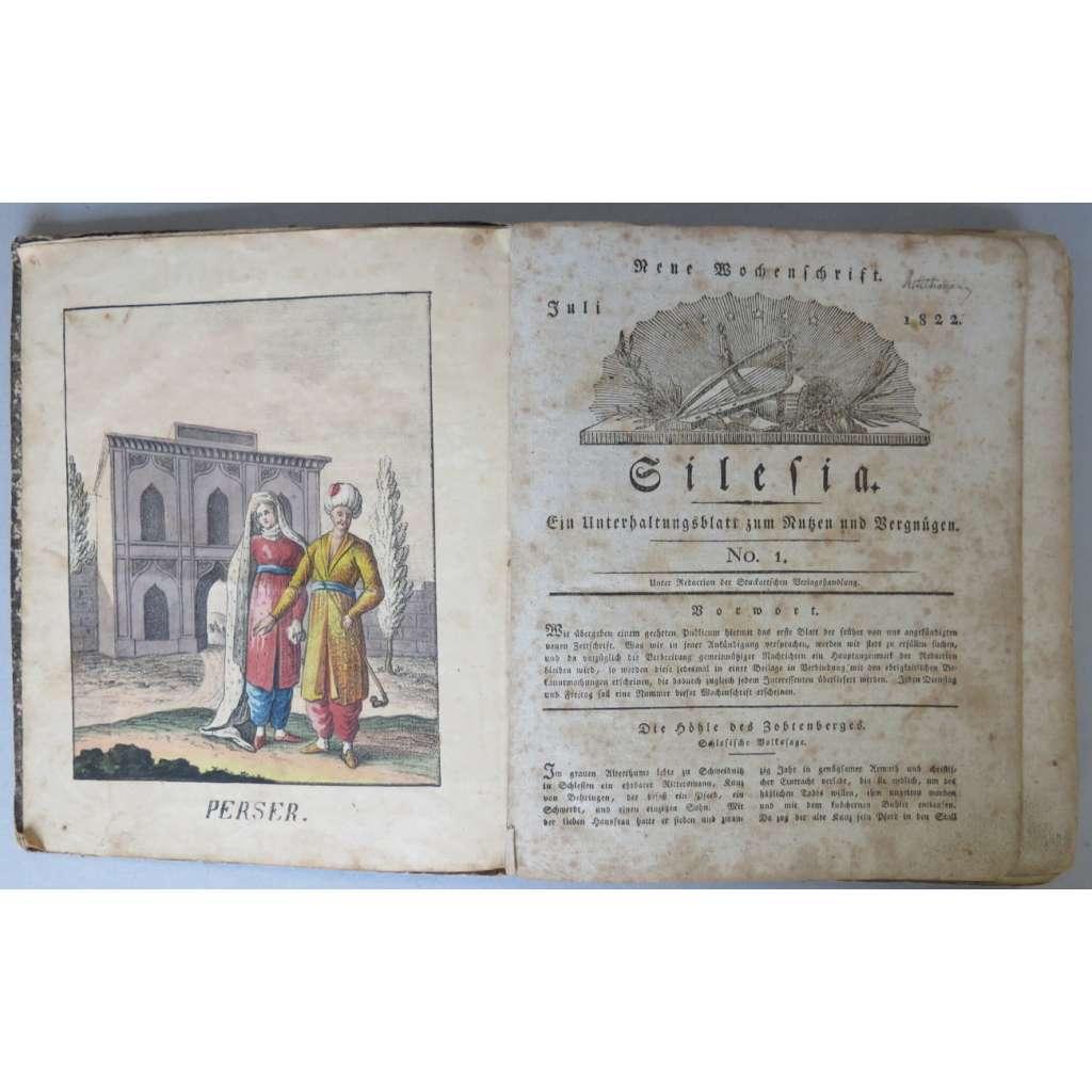 Neue Wochenschrift Silesia. Ein Unterhaltungsblatt zum Nutzen und Vergnügen, Juli - Dezember 1822