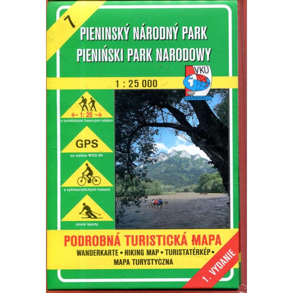 Turistická mapa : Pieninský národný park / Pieniński park narodowy