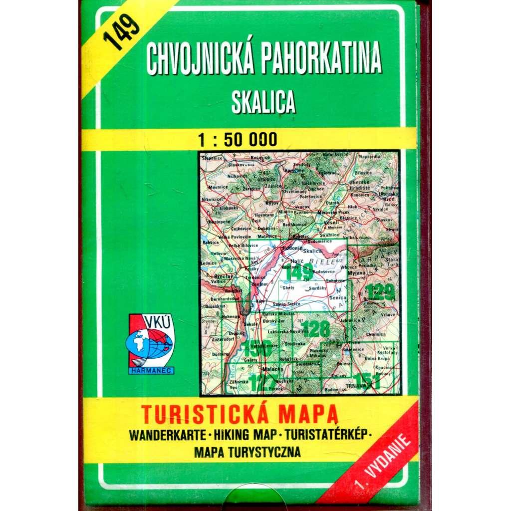 Turistická mapa : Chvojnická pahorkatina - Skalica