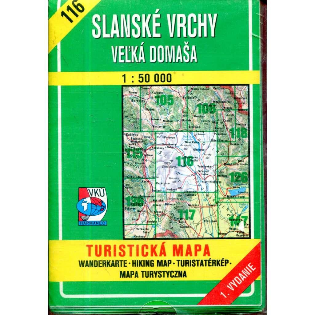 Turistická mapa : Slanské vrchy - Veĺká Domaša