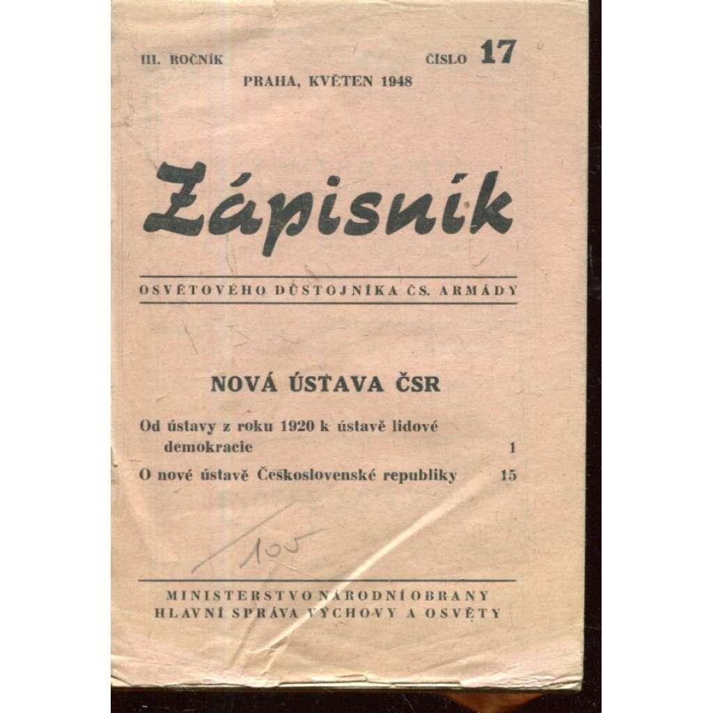 Zápisník osvětového důstojníka čs. armády
