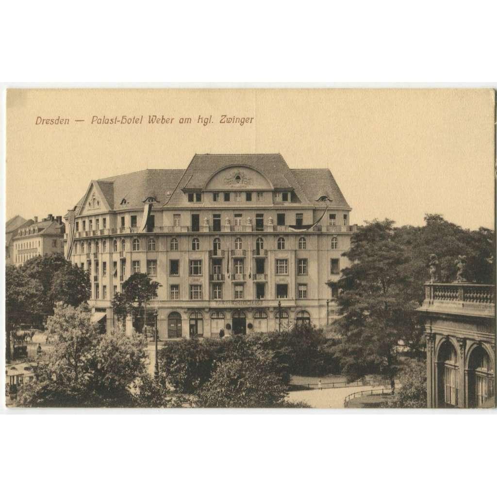 Dresden, Drážďany, Německo, Deutschland Germany, Palast hotel