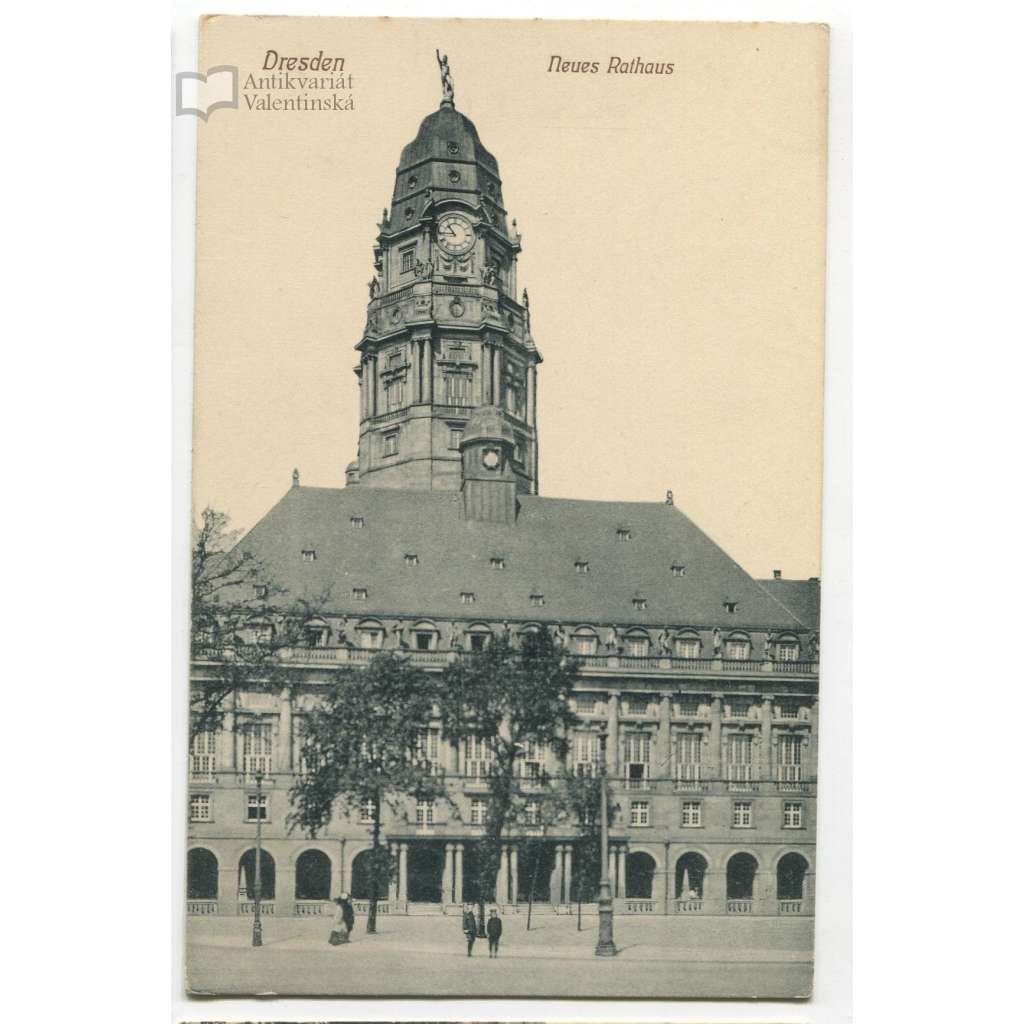 Dresden, Drážďany, Německo, Deutschland, Neues Rathaus