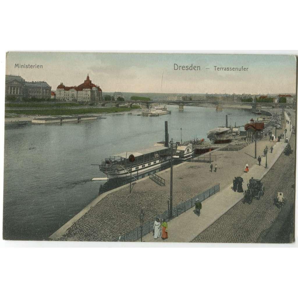 Dresden, Drážďany, Německo, Deutschland , parník