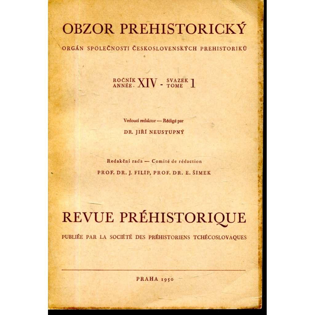 Obzor prehistorický XIV/1-1950