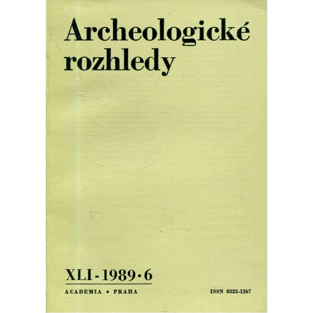 Archeologické rozhledy XLI - 1989, č. 6.