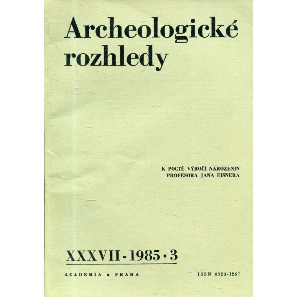 Archeologické rozhledy XXXVII - 1985, č. 3.