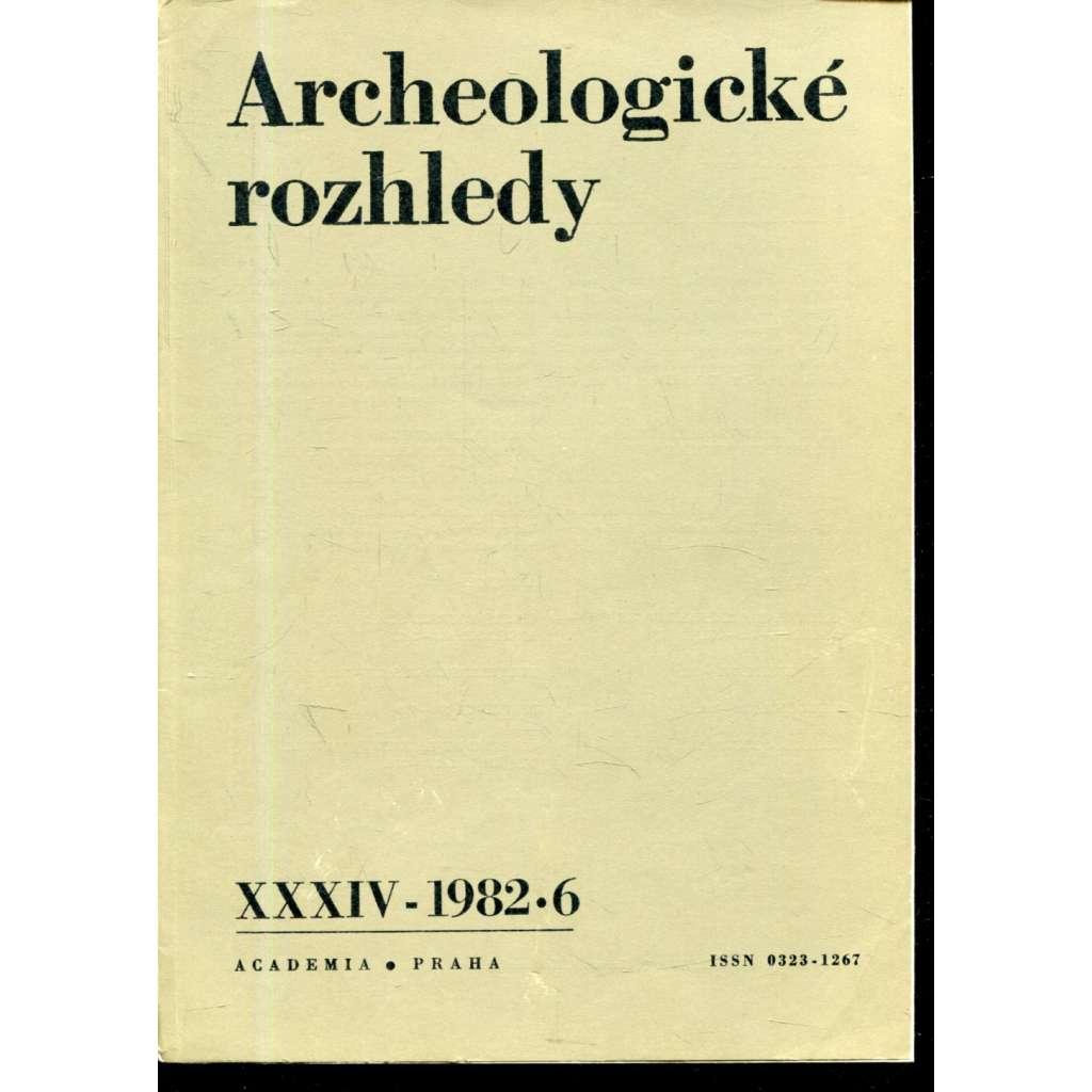 Archeologické rozhledy XXXIV - 1982, č. 6.
