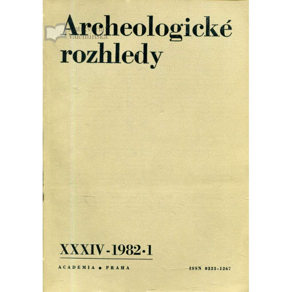 Archeologické rozhledy, roč. XXXVII - 1985, sešit 1