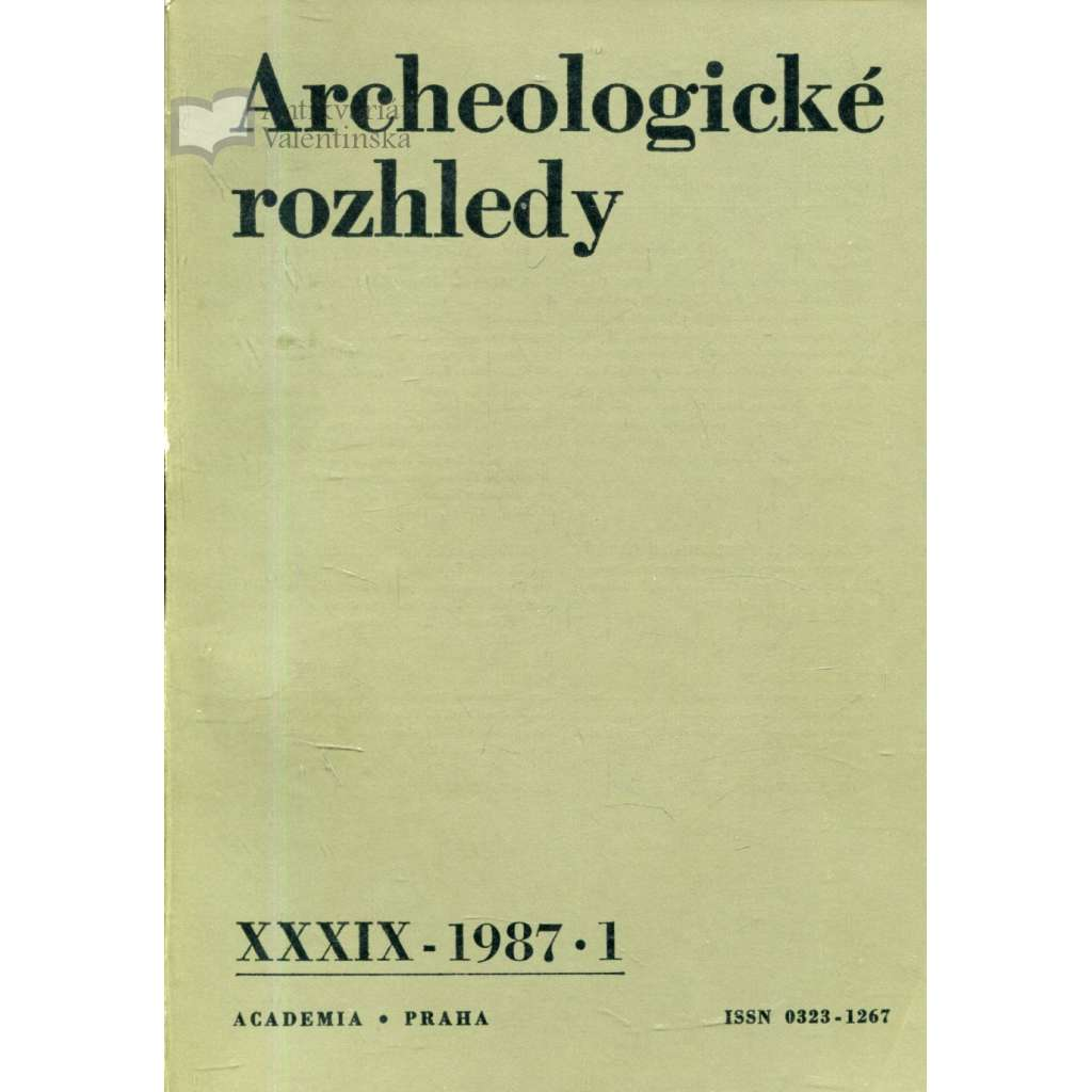 Archeologické rozhledy, roč. XXXIX - 1987, sešit 1