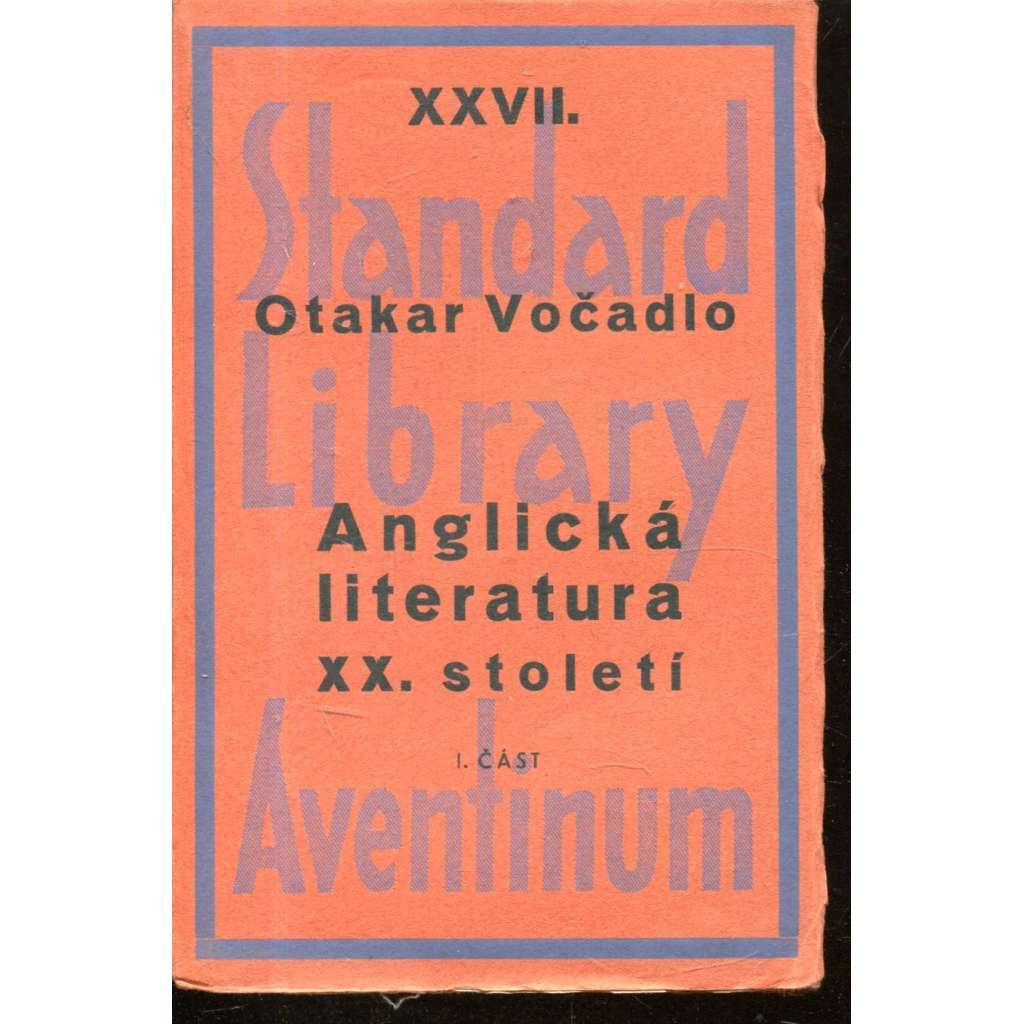 Anglická literatura XX. století (1901-1931) I. část (obálka Josef Čapek)