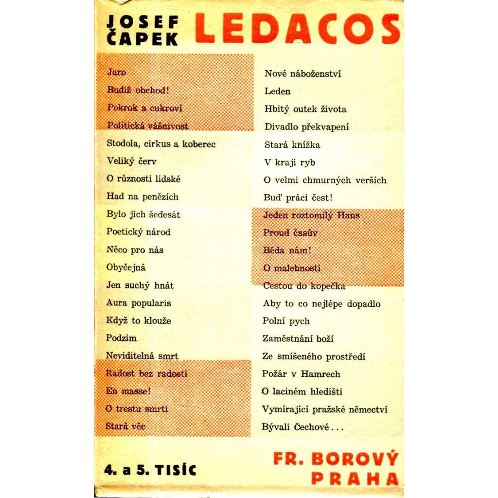 Ledacos (obálka Josef Čapek)