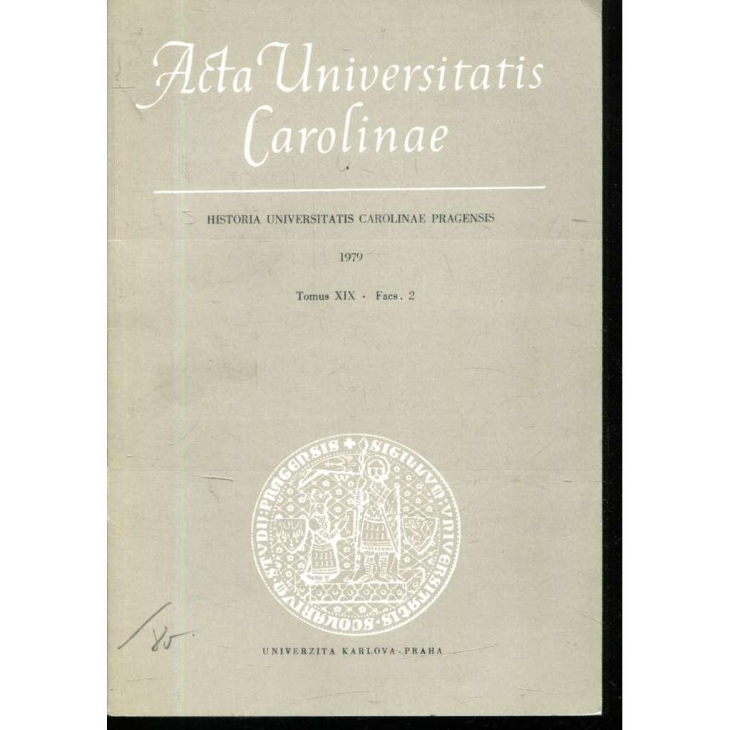 Historia Universitatis Carolinae Pragensis, XIX/2, 1979