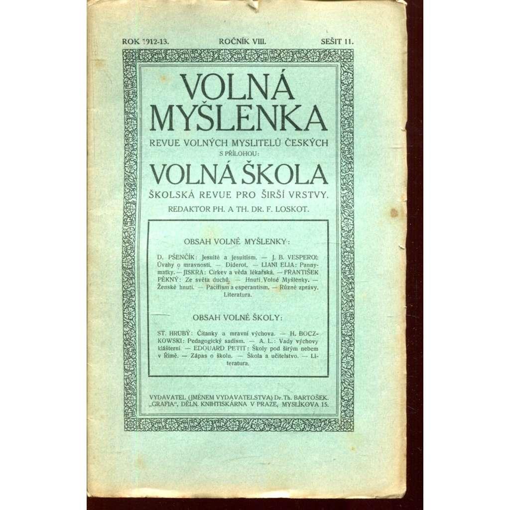 Volná myšlenka, 11/1912-13 (roč. VIII.)