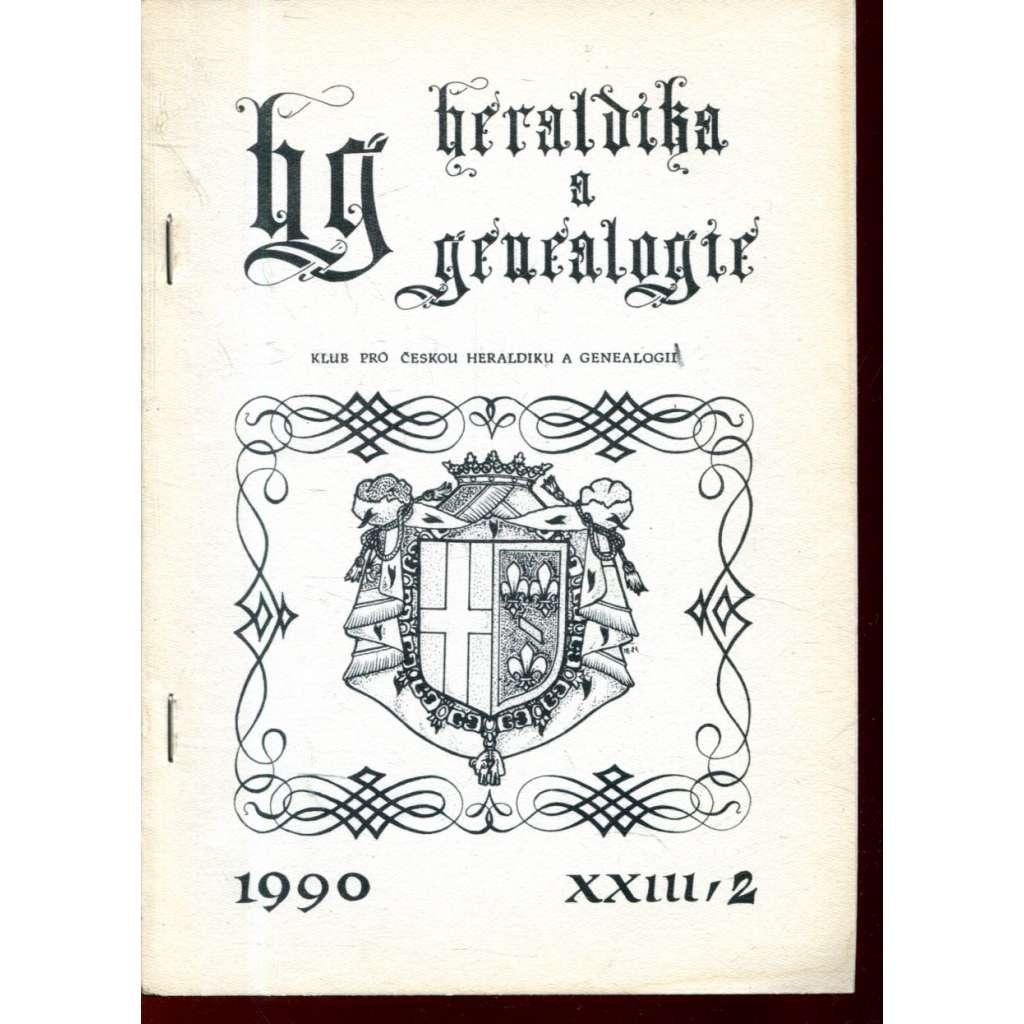 Heraldika a genealogie, XXIII/2, 1990