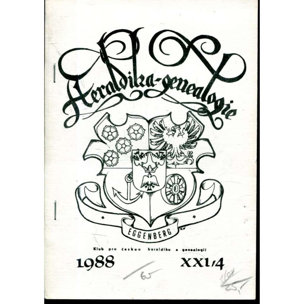 Heraldika a genealogie, roč. XXI., č. 4/1988