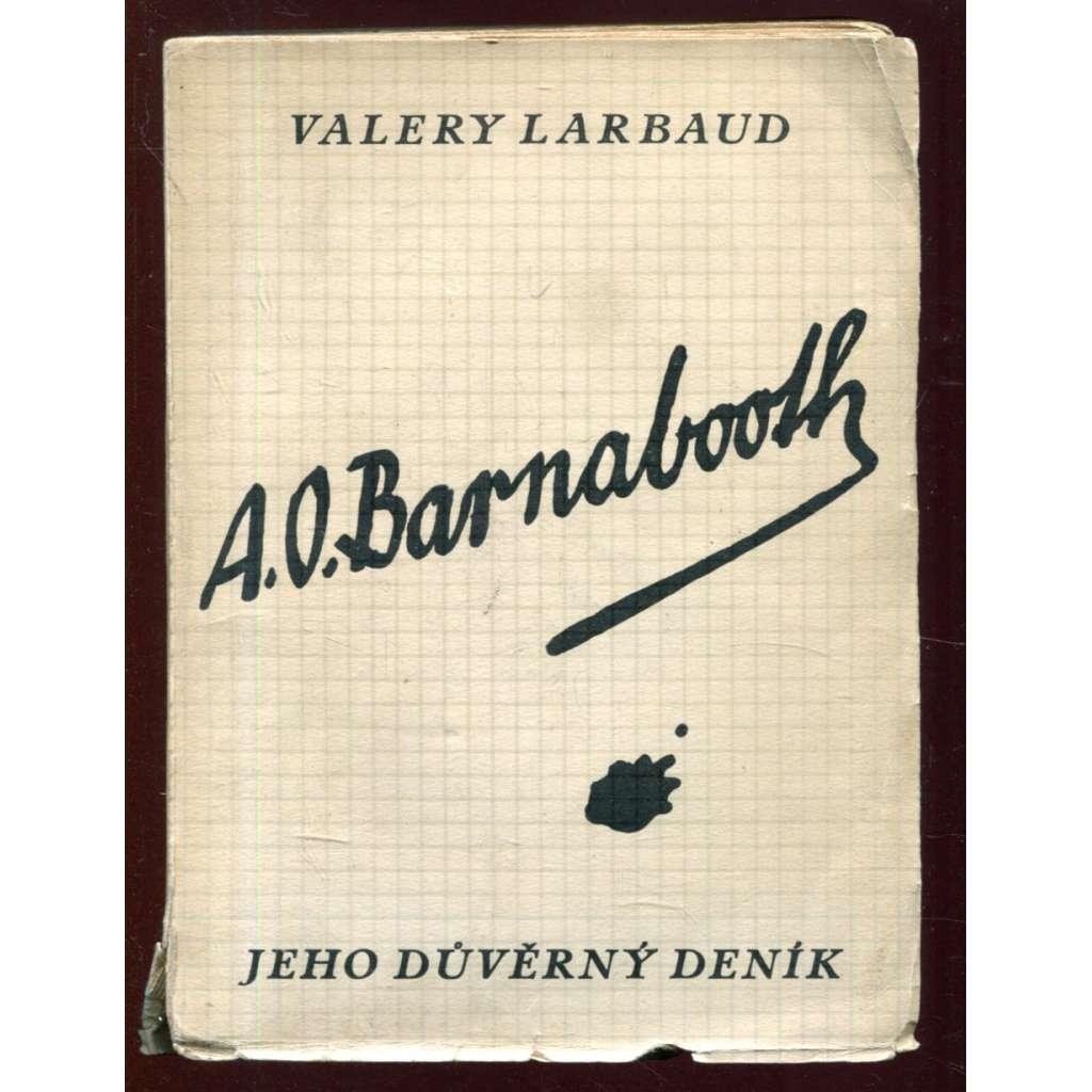 A. O. Barnabooth. Jeho důvěrný deník - obálka Josef Čapek