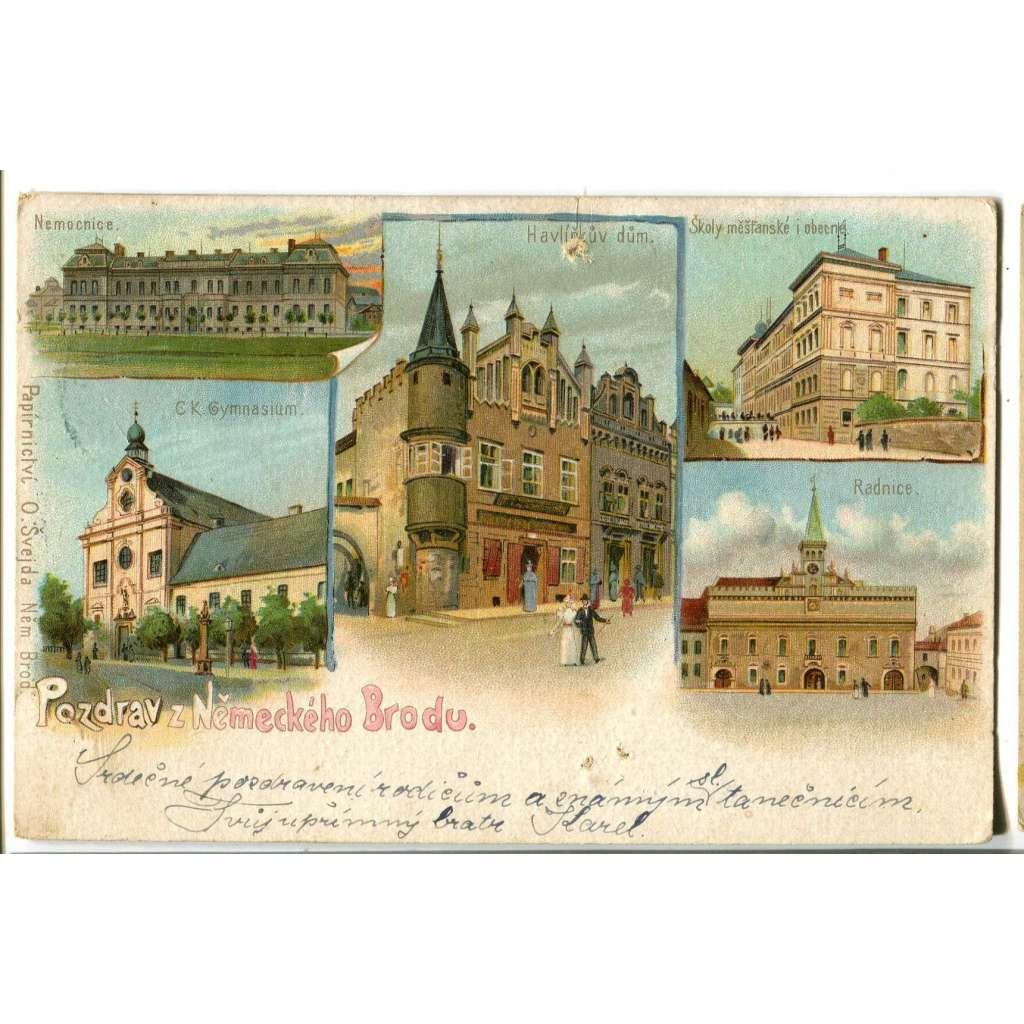 Havlíčkův Brod, litografie
