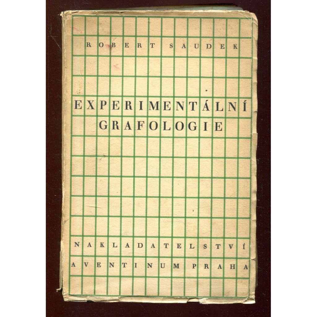 Experimentální grafologie - obálka Josef Čapek