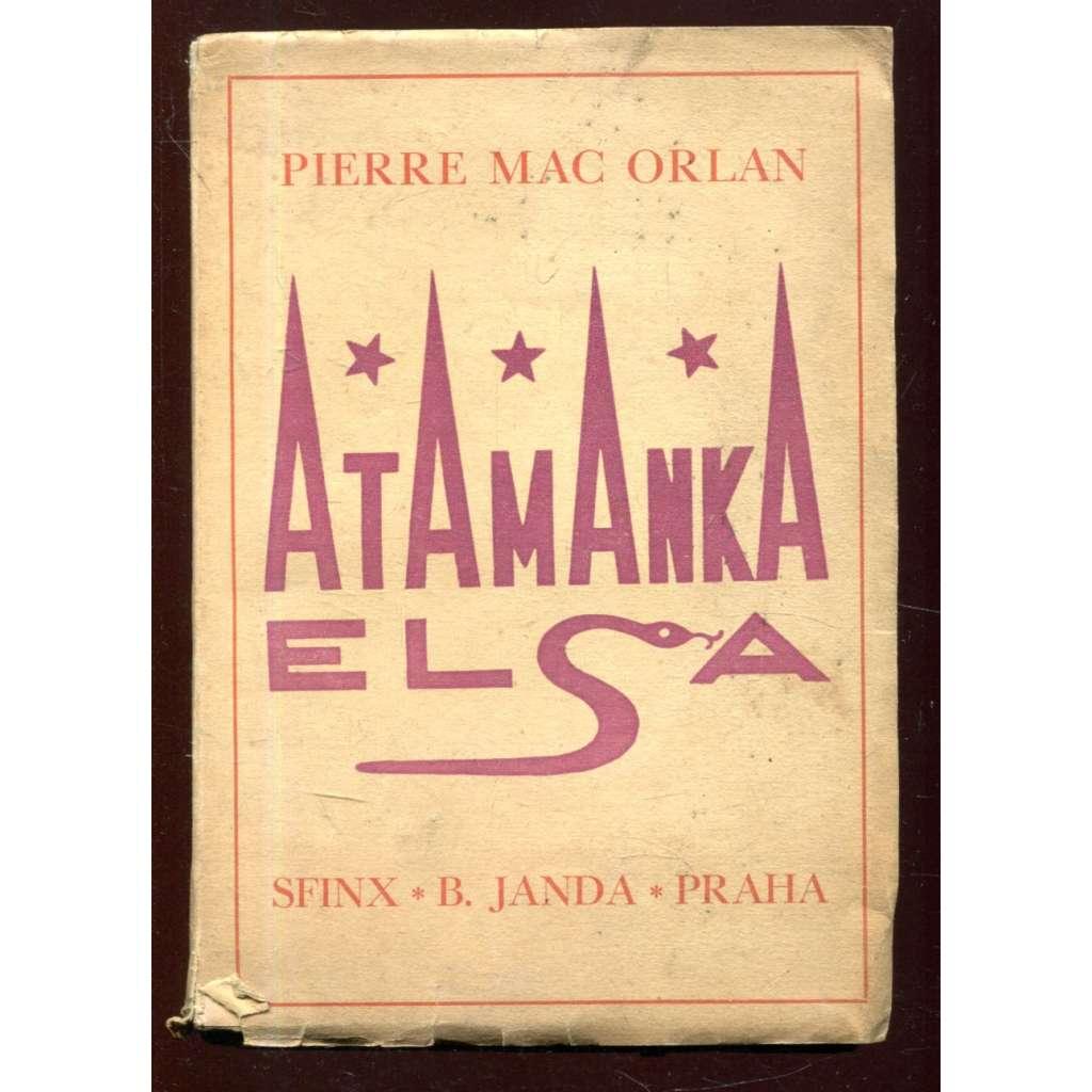 Atamanka Elsa - obálka Josef Čapek
