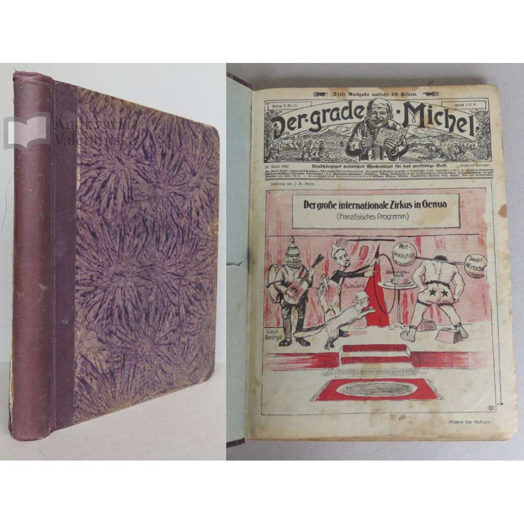 Der grade Michel, Jahrgang 1922, Nrn. 16, 18-52, mit Illustrierter Unterhaltungs-Beilage Der Gemütliche Erzähler, Jahrgang 1922, Nrn. 16, 18-51