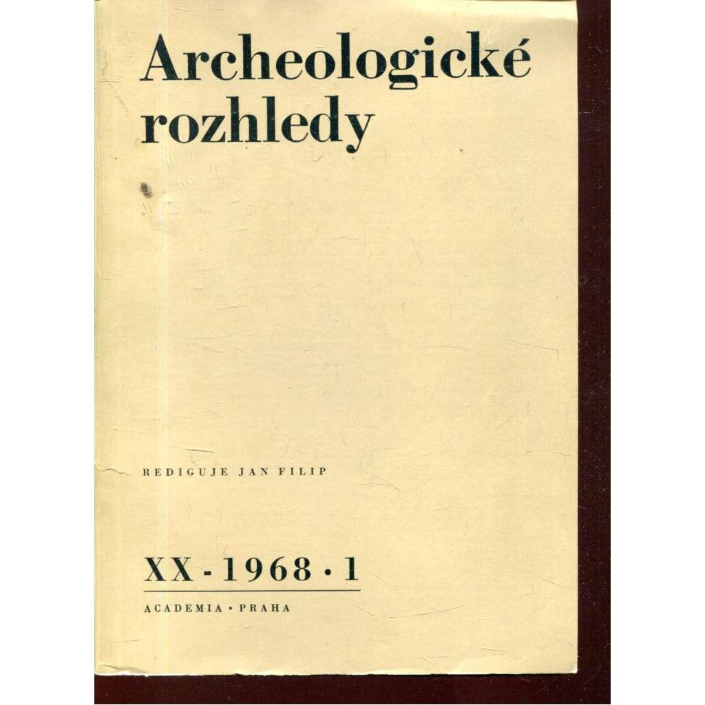 Archeologické rozhledy XX - 1968, č. 1.