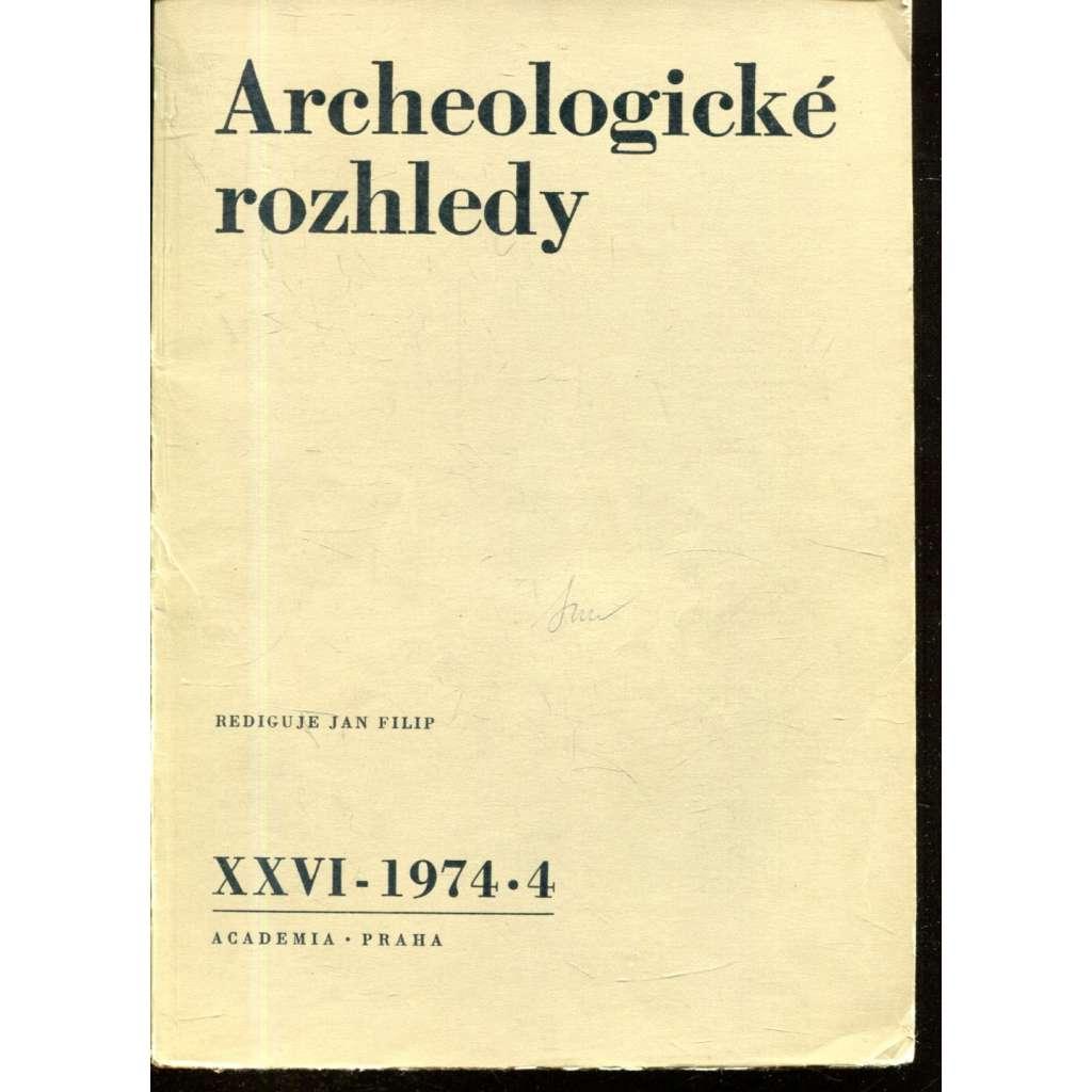 Archeologické rozhledy XXVI - 1974, č. 4.