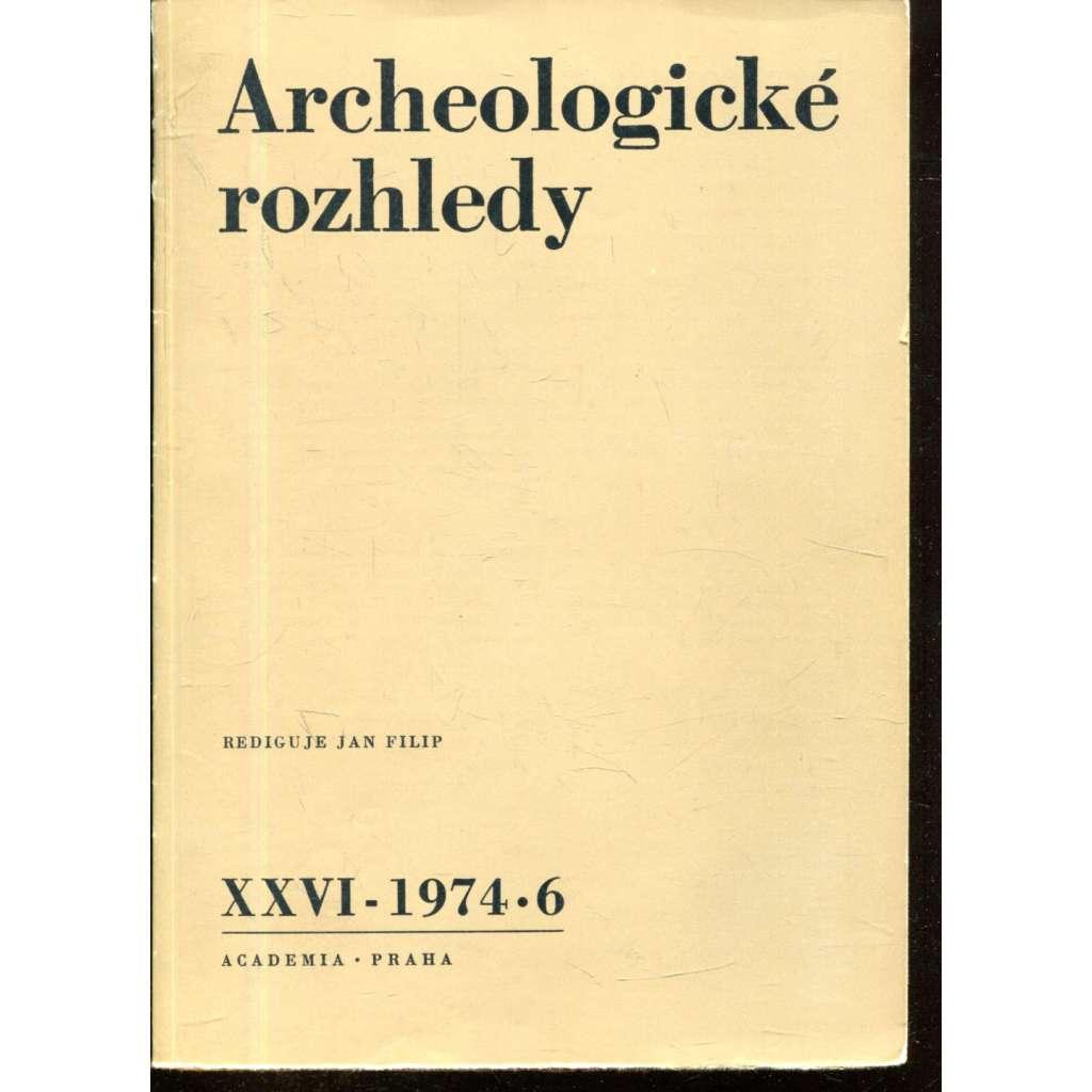 Archeologické rozhledy XXVI - 1974, č. 6.