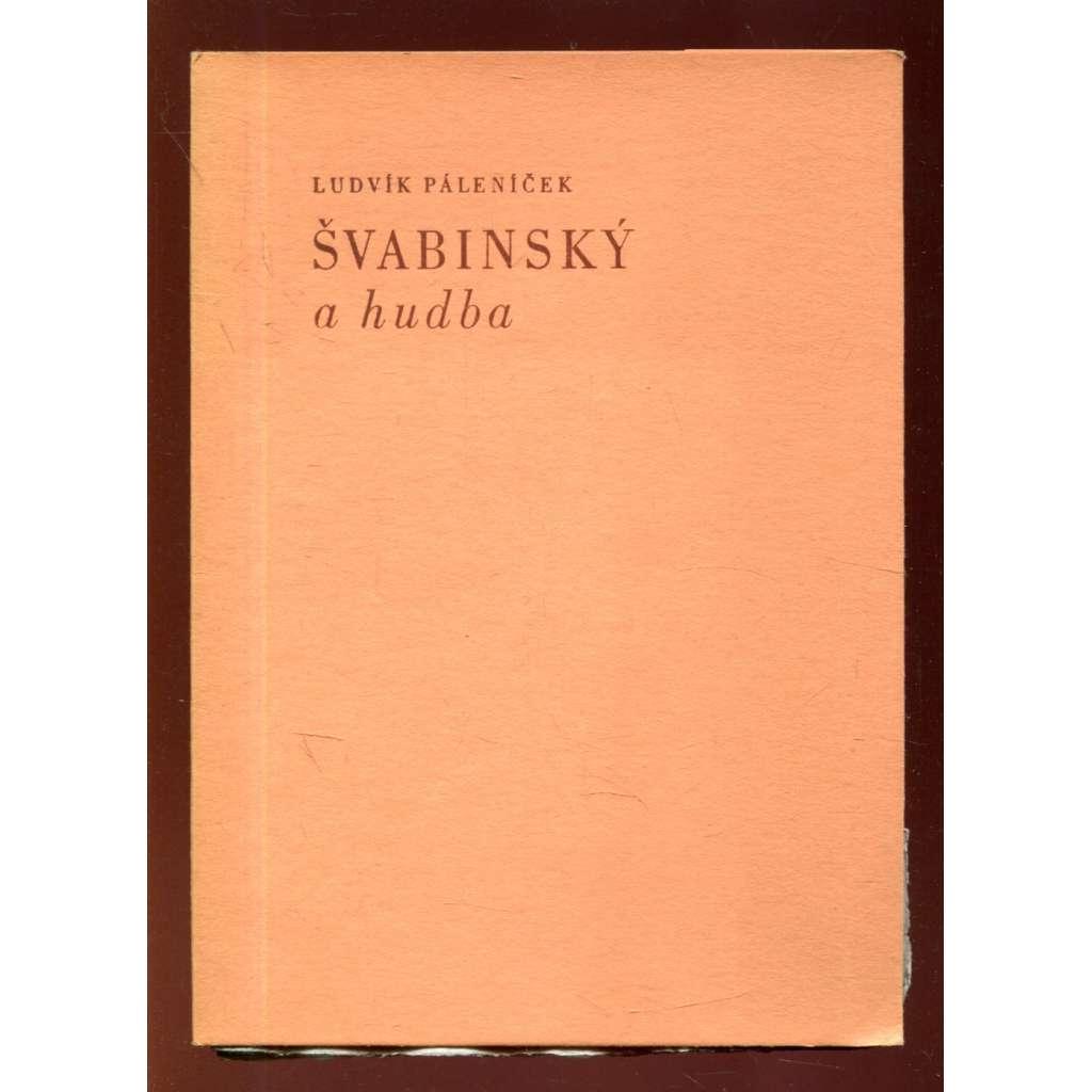 Švabinský a hudba (podpis Páleníček) - edice Kladenský lis - tiskl Cipra - Ciprův tisk
