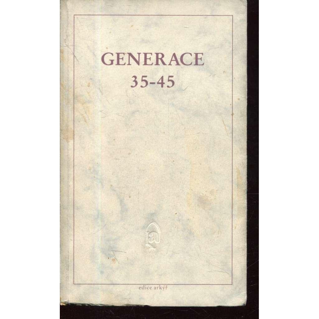 Generace 35-45 (edice Arkýř, exil)