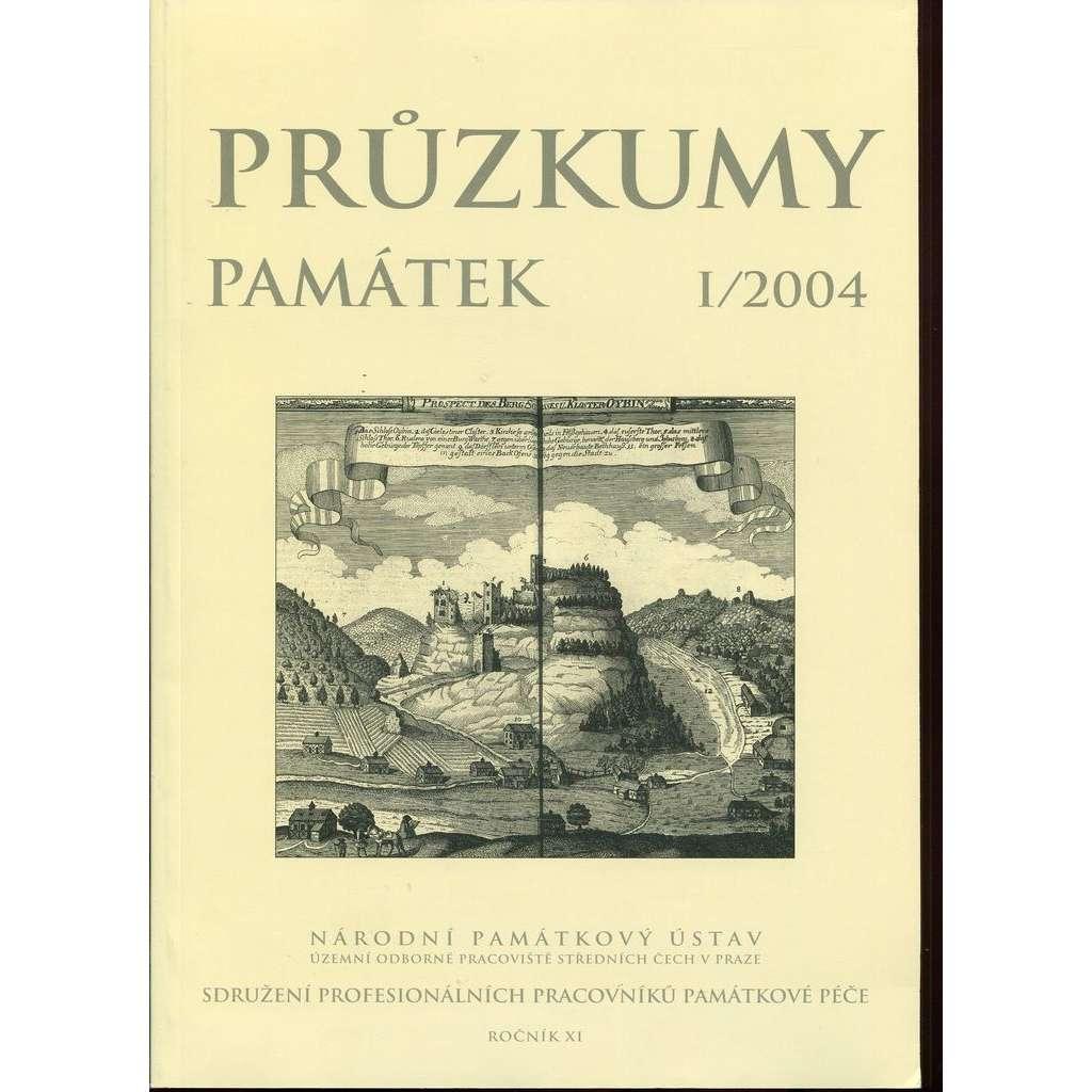 Průzkumy památek, roč. XI. I/2004