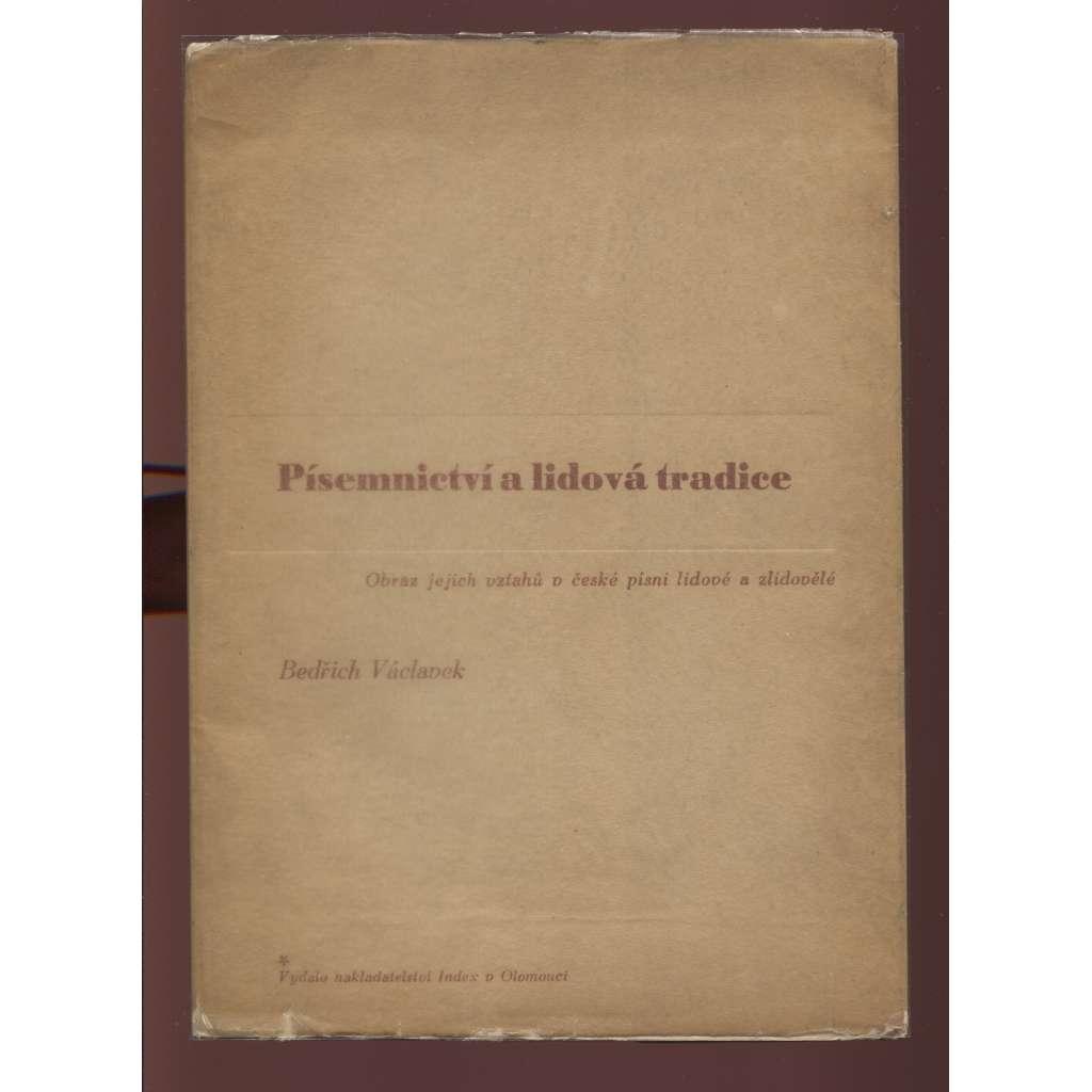 Písemnictví a lidová tradice (obálka Zdeněk Rossmann)