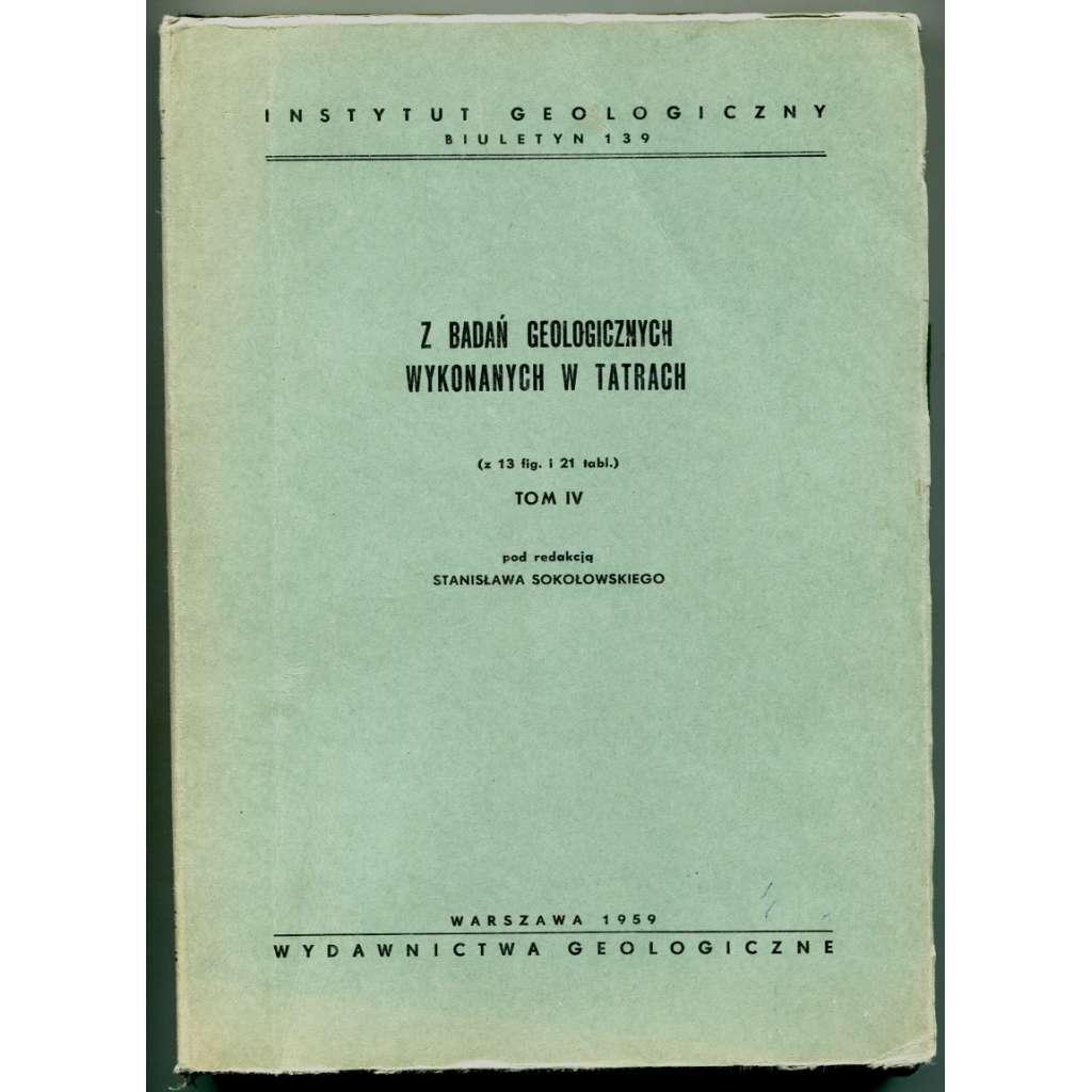 Profile stratygraficzne serii wierchowej Tatr Polskich [Z badan geologicznych wykonanych w Tatrach, Tom IV]  (Tatry, Polsko, geologie)