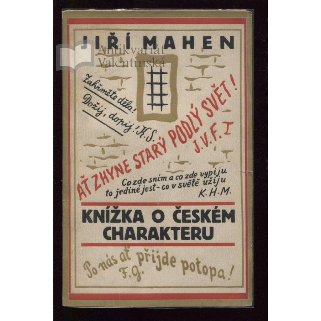 Knížka o českém charakteru (obálka Josef Čapek)