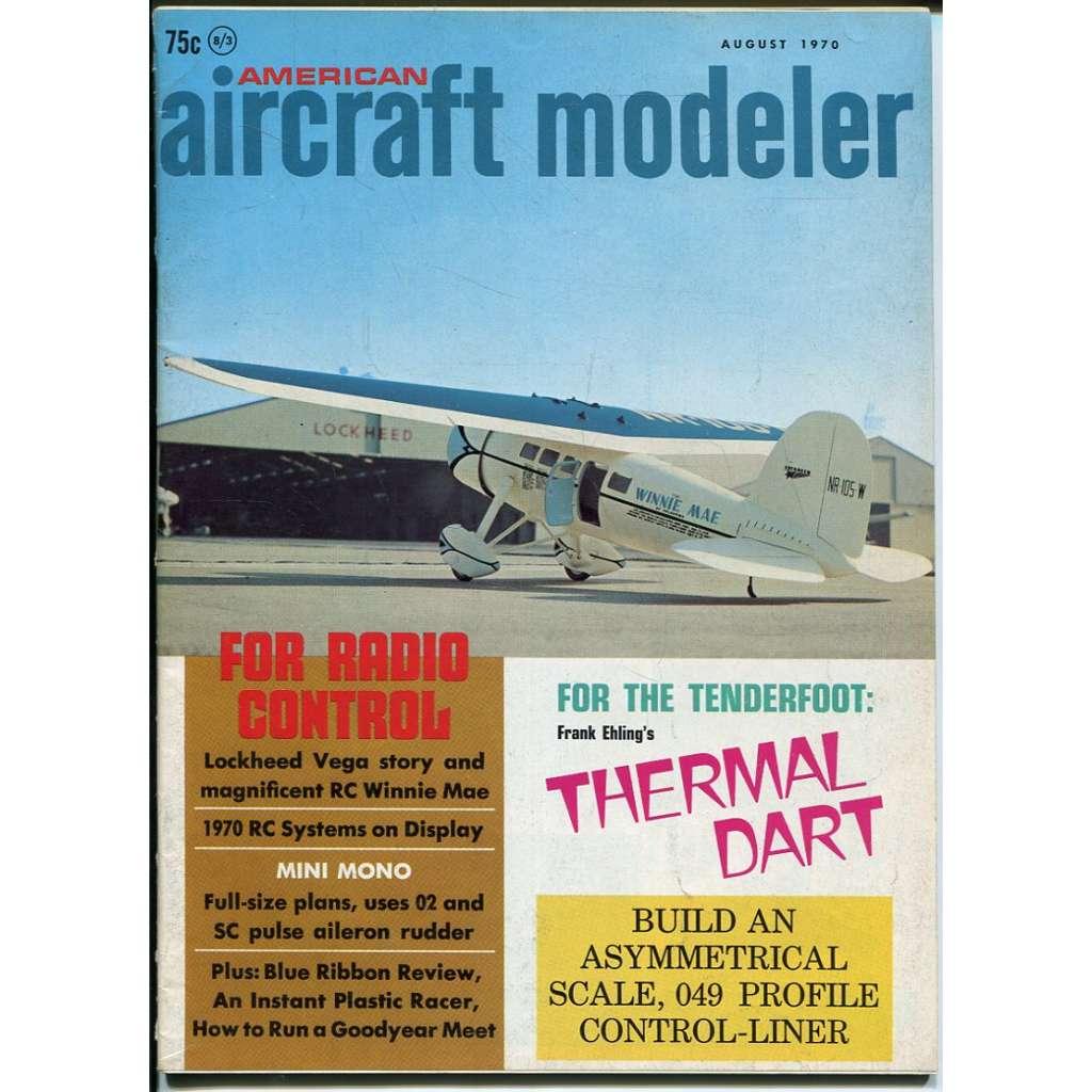 American Aircraft Modeler 8/1970, Vol. 71, No. 2 (letadla, modelářství)