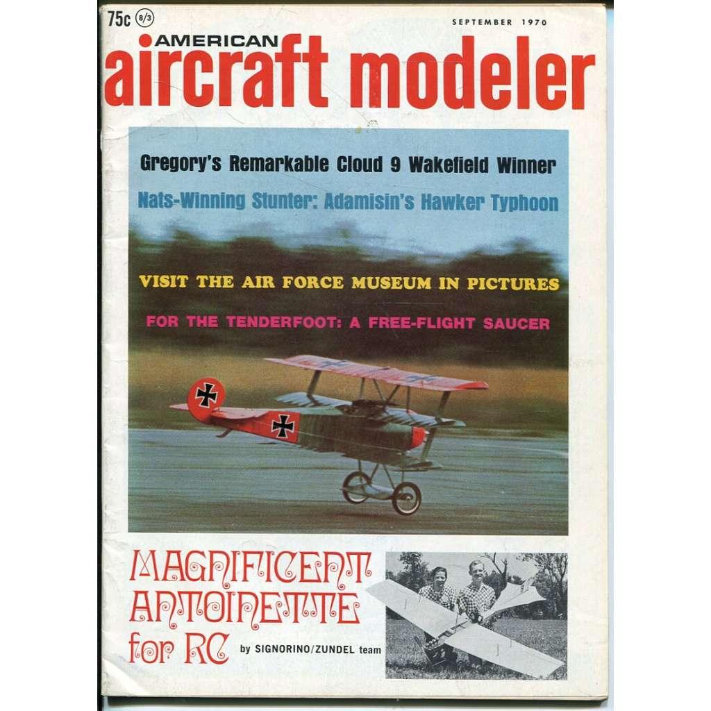 American Aircraft Modeler 9/1970, Vol. 71, No. 3 (letadla, modelářství)