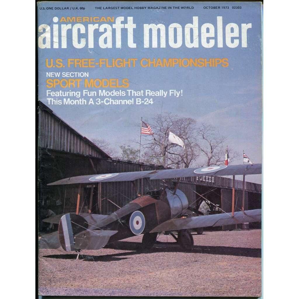 American Aircraft Modeler 10/1973, Vol. 77, No. 4 (letadla, modelářství)