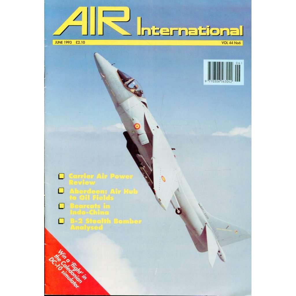 Air International 6/1993, Vol. 44, No. 6 (letectví, letadla)
