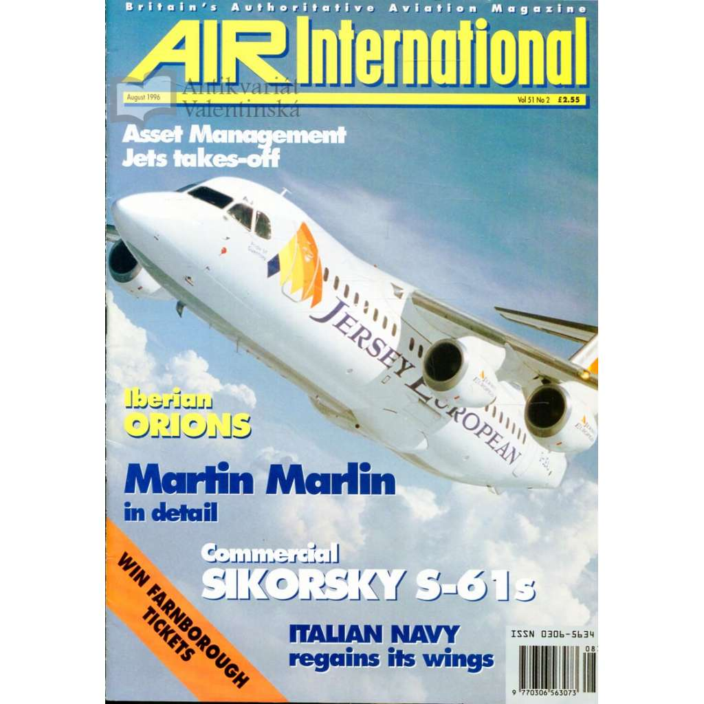 Air International 8/1996, Vol. 51, No. 2 (letectví, letadla)