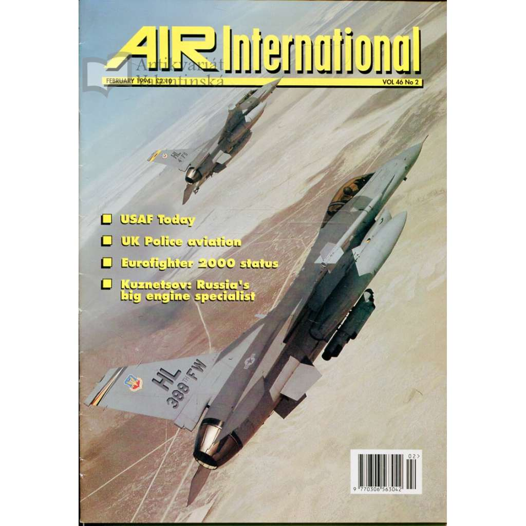 Air International 2/1994, Vol. 46, No. 2 (letectví, letadla)