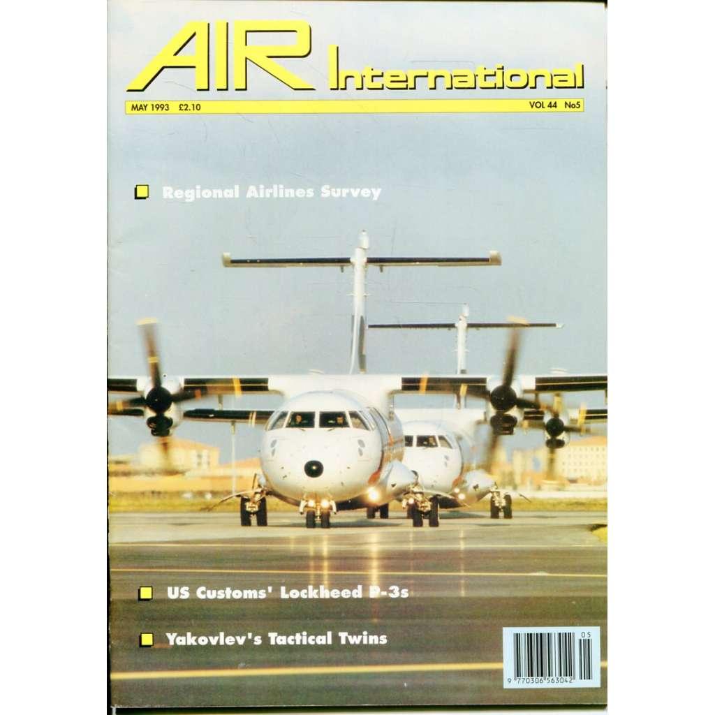 Air International 5/1993, Vol. 44, No. 5 (letectví, letadla)