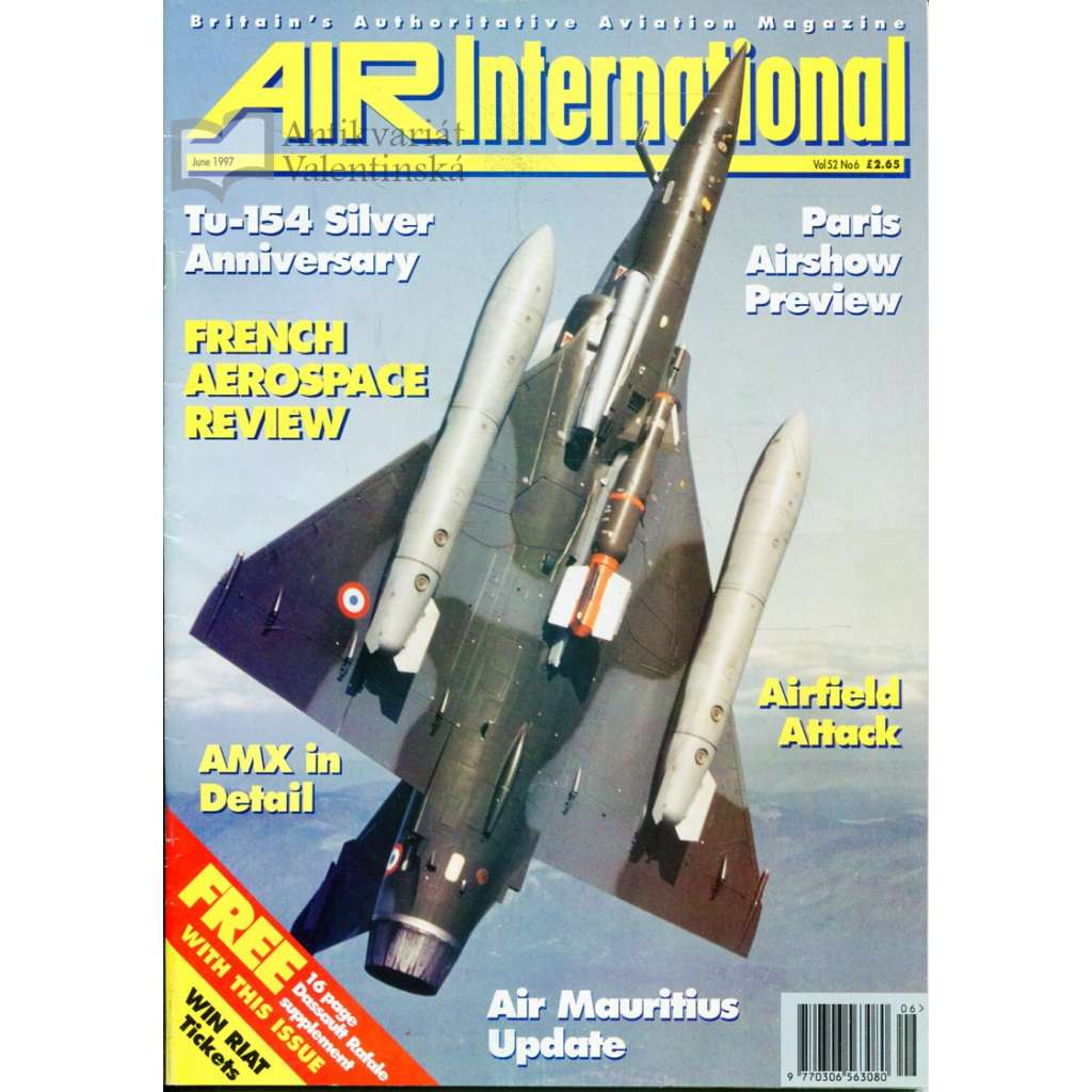 Air International 6/1997, Vol. 52, No. 6 (letectví, letadla)