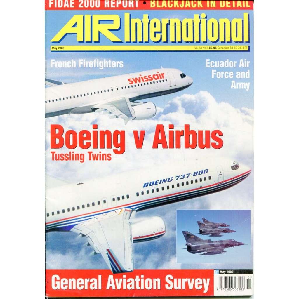 Air International 5/2000, Vol. 58, No. 5 (letectví, letadla)