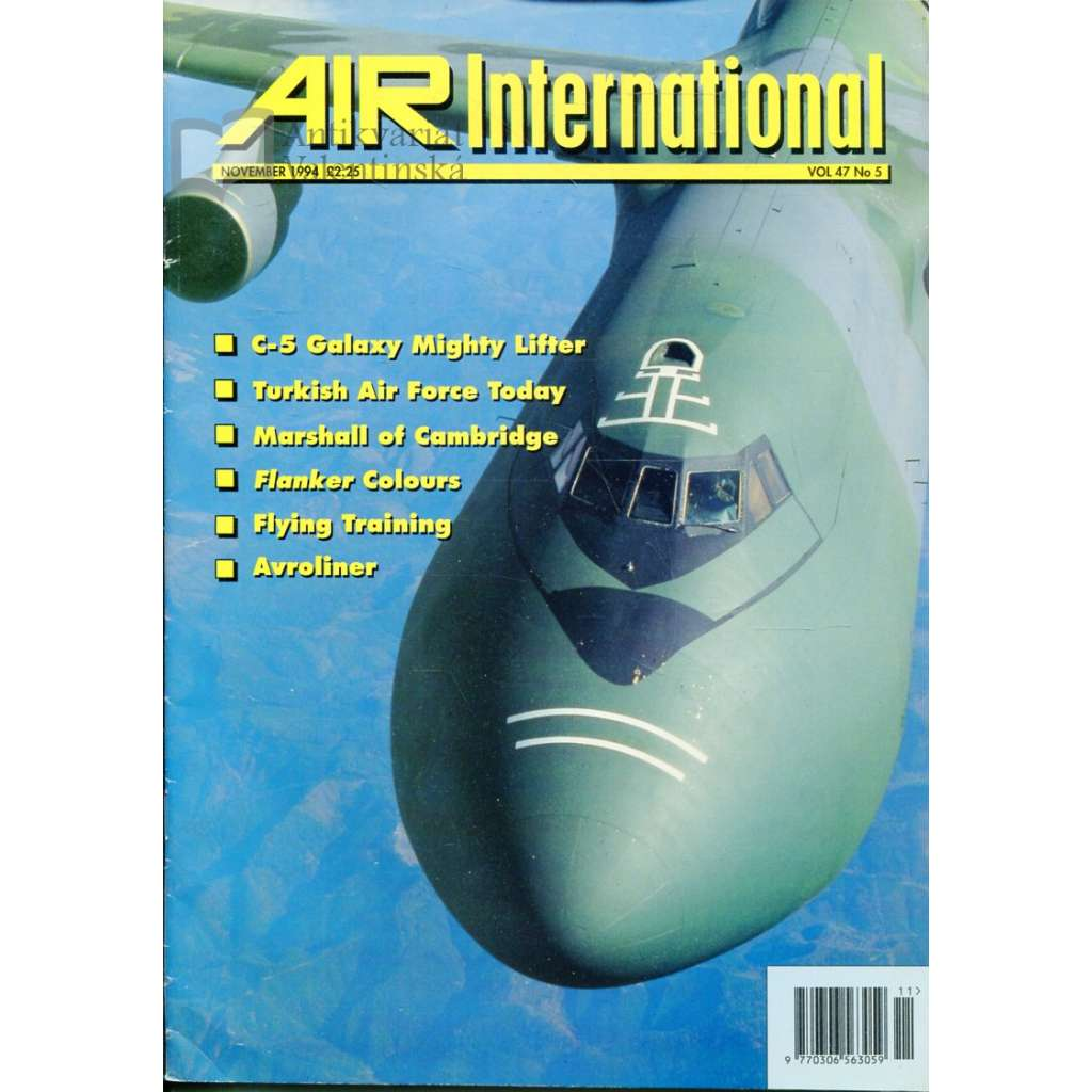 Air International 11/1994, Vol. 47, No. 5 (letectví, letadla)