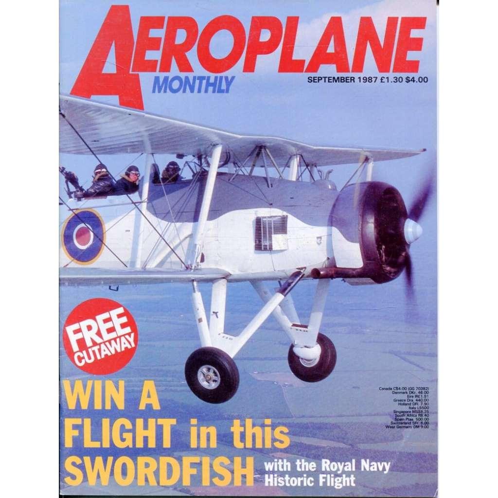 Aeroplane Monthly 9/1987, Vol. 15, No. 9, Issue No. 173 (letectví, letadla)