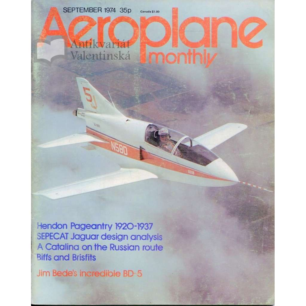 Aeroplane Monthly 9/1974, Vol. 2, No. 9 (letectví, letadla)
