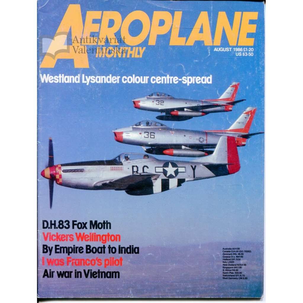 Aeroplane Monthly 8/1986, Vol. 14, No. 8, Issue No. 160 (letectví, letadla)